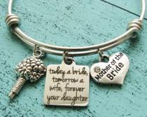wedding photo - mother of the bride gift, wedding gift for mom, bridal gift for mom from daughter, today a bride tomorrow a wife forever your daughter