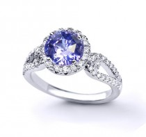 wedding photo - Unheated, Ceylon Color Change and Diamond e-ring. 14K White gold, 3rd party certified.