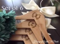 wedding photo - Bridal hanger,Personalized Wedding dress hanger, Wooden Engraved HangerCustom Bridal Hangers,Bridesmaids gift, Wedding hangers with names