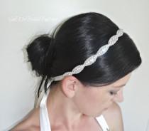 wedding photo - Bridal Crystal Headband, Beaded Wedding Headpiece, Rhinestone Headband, JULIE