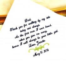 wedding photo - Father of the Bride Gift - Father of the Bride Hankerchief - Gift for Father of the Bride - WALKING, FIRST MAN-Wedding-Weddings- Embroidered