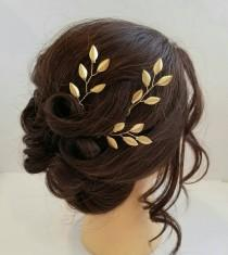 wedding photo - Gold Bridal Hair Vine, Gold Leaf Hair Comb, Gold Hair Vine, Leaf Bridal Comb, Bridal Hairpiece, Wedding Hair piece, Gold Leaf Hair Vine