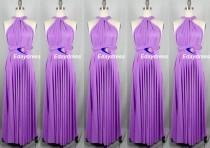 wedding photo - Lilac Floor Length Long Maxi Infinity Dress Convertible Formal Multiway Wrap Dress Bridesmaid Dress Party dress Evening Dress