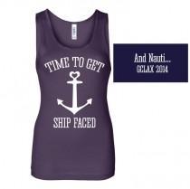 wedding photo - Bachelorette Shirt, Nautical Tank, Ship Faced Tank, Cruise Tank, Wedding Shirt, Custom