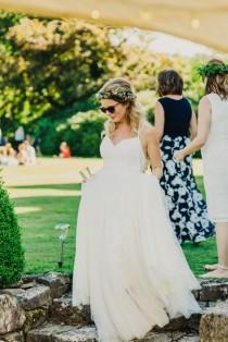 wedding photo - Colourful Outdoor Wedding At Shillingstone House, Dorset