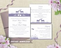 wedding photo - Wedding Invitation Template Download Printable Wedding Invitation Editable Lavender Invitation Purple Wedding Invitation Elegant Invites DIY