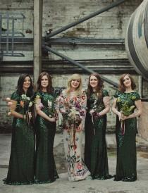 wedding photo - Modern Scottish Warehouse Wedding: Gillian