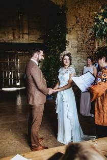 wedding photo - Bluebell By Temperley London For An Elegant And Colourful Autumn Barn Wedding