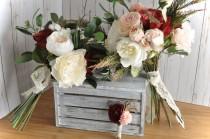 wedding photo - Marsala Bohemian Bouquet, Bouquet Bundle, Greenery Wedding, Marsala Gold, Marsala Bridesmaid, Woodland Wedding, Burgundy Bouquet