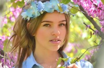 wedding photo - Beach bridal crown Light blue wedding flower crown Orchid hair Wreath Bridal floral headpiece Blue floral crown Orchids hair dress