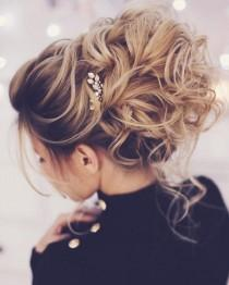 wedding photo - Pretty Messy Wedding Updo Hairstyle For Every Type Of Bride