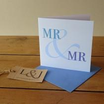 wedding photo - Gay Card - Gay Wedding Card - LGBT - Same Sex Card - Mr And Mr - Gay Wedding - Gay Valentine - Gay Engagement - Gay Boyfriend - Homosexual