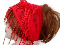wedding photo - Scarf Bandana, Women Lace Hair Band, Lace Head Band, Women Head Shawl, Head scarf, Head Band, Red Head Band, Hair Cover, Lace Scarf