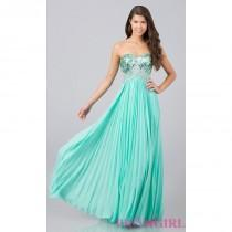 wedding photo - Long Strapless Prom Dress with Sequins - Brand Prom Dresses