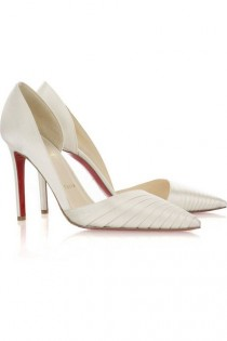 wedding photo - Christian Louboutin Bigorno 100 Satin Pumps