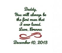 wedding photo - FATHER Of The BRIDE Handkerchief Hanky Hankie - You Will Always Be The First Man I Ever Loved - FoB - Dad