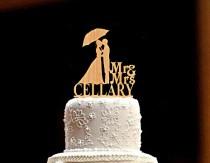 wedding photo - Custom Wedding Cake Topper Personalized Wedding Cake Topper bride and groom Wood Rustic Wedding Cake Topper Mr and Mrs Wedding Cake Topper