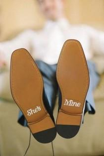 wedding photo - Groom Shoe Decals