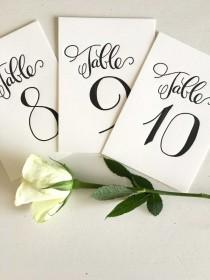 wedding photo - Calligraphy Table Numbers - Wedding Table Numbers - Wedding Table Markers - Elegant Table Numbers - Wedding Reception Decor - Wedding Decor