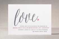"wedding photo - ""Charming Love"" - Customizable Letterpress Wedding Invitations In Pink By Melanie Severin"