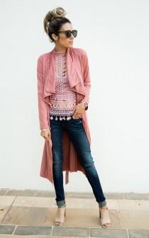 wedding photo - Blush Pink Duster Jacket