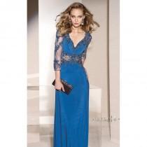 wedding photo - Lace Three Quarter Lengh Sleeved Dresses by Alyce Jean De Lys 29738 - Bonny Evening Dresses Online