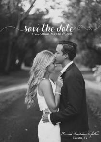 wedding photo - Save our Date Digital file/ Template