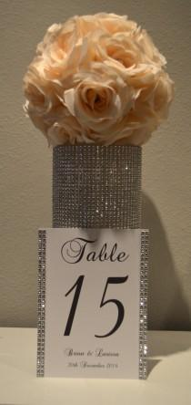 wedding photo - Bling Collection * Wedding rhinestone table numbers