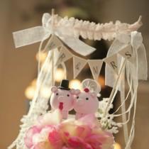 wedding photo - pig and piggy Wedding Cake Topper---k711