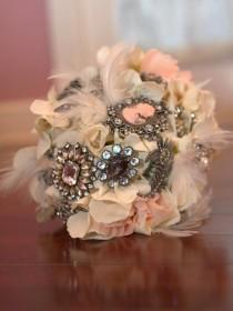 wedding photo - Blush Bliss Bouquet, Custom Made