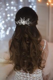 wedding photo - Bridal hair comb, wedding hair comb, bridal headpiece, wedding hair piece, pearl hair comb, hair accessories, bridal hair piece, hair vine