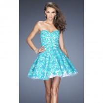wedding photo - Strapless Lace Dress by La Femme 20247 - Bonny Evening Dresses Online