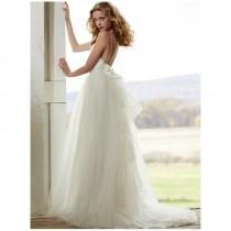 wedding photo - Spitze Sweetheart Brautkleid mit Spaghetti-Trägern und Illusion Overskirt - Festliche Kleider