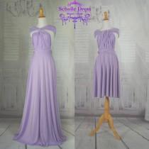 wedding photo - lavender dress length ball gown Infinity Dress Convertible Formal,wrap dress ,bridesmaid dress,party dress Evening dress C35#B35#