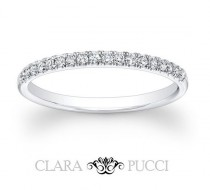 wedding photo - 0.8 CT Wedding Engagement Ring Band Classic 14k White Gold Made and Designed in the USA