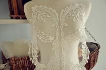 wedding photo - gorgeous bridal lace applique, venice lace applique in ivory for wedding gonw,bridal veil, dresses