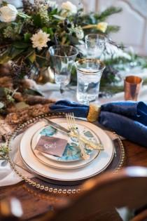 wedding photo - Rustic Modern Winter Wedding