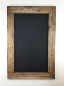wedding photo - Set of Two 36x24 Rustic Framed Chalkboards, Wedding Sign, Chalkboard Sign, Christmas Gift, Holiday Decor, Mantel, Sign, Gift for Her