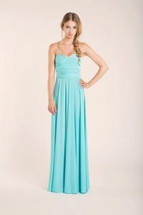 wedding photo - Aquamarine floor length infinity dress, light blue, long dress, party long dress, versatile dress, blue malibu prom dress, bridesmaid dress