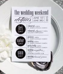 wedding photo - Printable Wedding Itineraries - Style IT6 - ULTRAMODERN COLLECTION