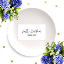 wedding photo - Wedding Place Cards-Chic Calligraphy Escort Cards-DIY Printable Place Card Template-Wedding, Reception, Party, Rehearsal Dinner Name cards