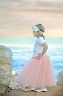 wedding photo - Blush Pink Tutu, Blush Pink Long Tulle Skirt, Blush Pink Tutu, Girls Pink Tutu, Blush mint wedding, light pink tutu, ballet pink tutu