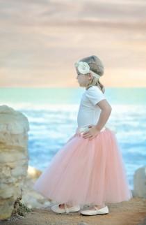 wedding photo - Blush Pink Tutu, Blush Pink Long Tulle Skirt, Blush Pink Tutu, Girls Pink Tutu, Blush mint wedding, light pink tutu, ballet pink tutu