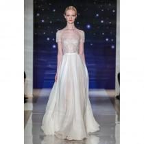 wedding photo - Look 12 by Reem Acra - Floor length Lace A-line Illusion Short sleeve Dress - 2017 Unique Wedding Shop