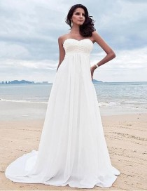 wedding photo - Sexy & Soft Chiffon Beach Wedding Dress