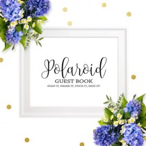 wedding photo -  Polaroid Guest Book Sign-Chic Calligraphy Photo Wedding Guest Book Sign-DIY Printable Sign our Guest Book-Polaroid Wedding Guest Book