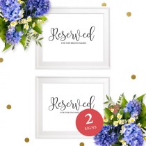 wedding photo -  Reserved for the Bride's and Groom's Family Printable Sign-Reserved for Family Sign-Reserved Seating-Table Sign-Calligraphy Wedding Sign