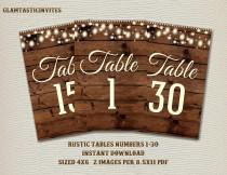 wedding photo - Rustic Table Numbers, Printable Table Numbers, Wedding Table Numbers, Instant Download, Rustic Wedding, Printable, Tables 1-30, Rustic