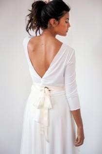 wedding photo - Last minute wedding dress, tulle wedding dress, ready to wear wedding dress, long sleeve wedding dress, bridal gown with detachable skirt
