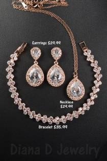 wedding photo - Bridesmaid Gift, Bridesmaid Jewelry Set, Bridesmaid Earrings, Necklace and Bracelet Set, Personalized Bridesmaid Gift, Wedding Jewelry Set